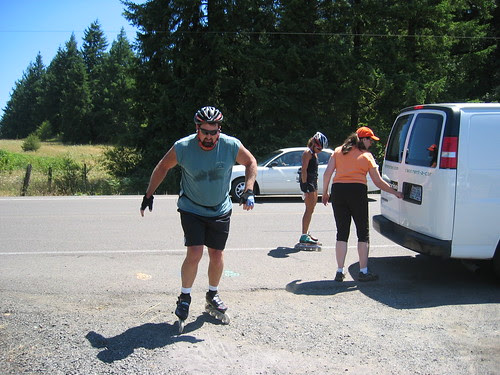 These folks rollerbladed the entire 60-mile route...