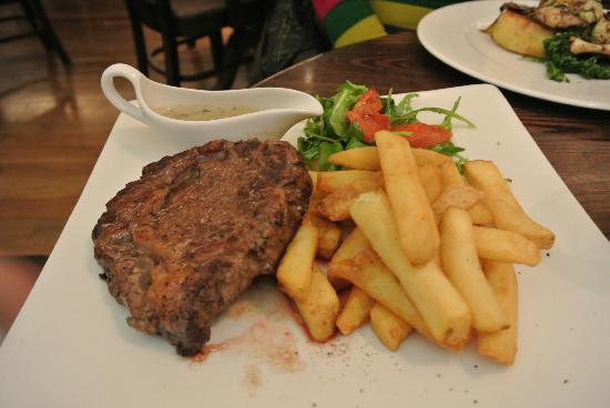 Main Rib Eye Steak - Picture of The Living Room, Edinburgh ...