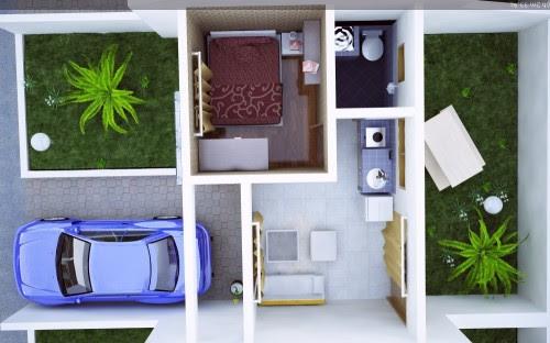 Contoh Desain Rumah Minimalis 2 Lantai Type 21