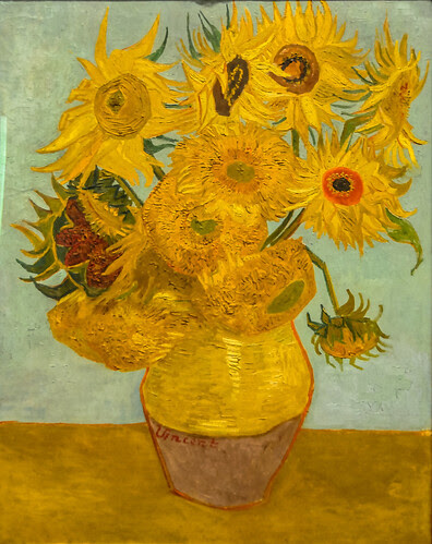 Vincent van Gogh - Sunflowers, 1889 at the Museum of Art Philadelphia PA by mbell1975