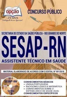 Apostila Concurso SESAP RN 2018   ASSISTENTE TÉCNICO EM SAÚDE