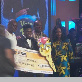 Spoiler alert! Jeffrey Akoh Is The Winner Of MTN Project Fame Season 8
