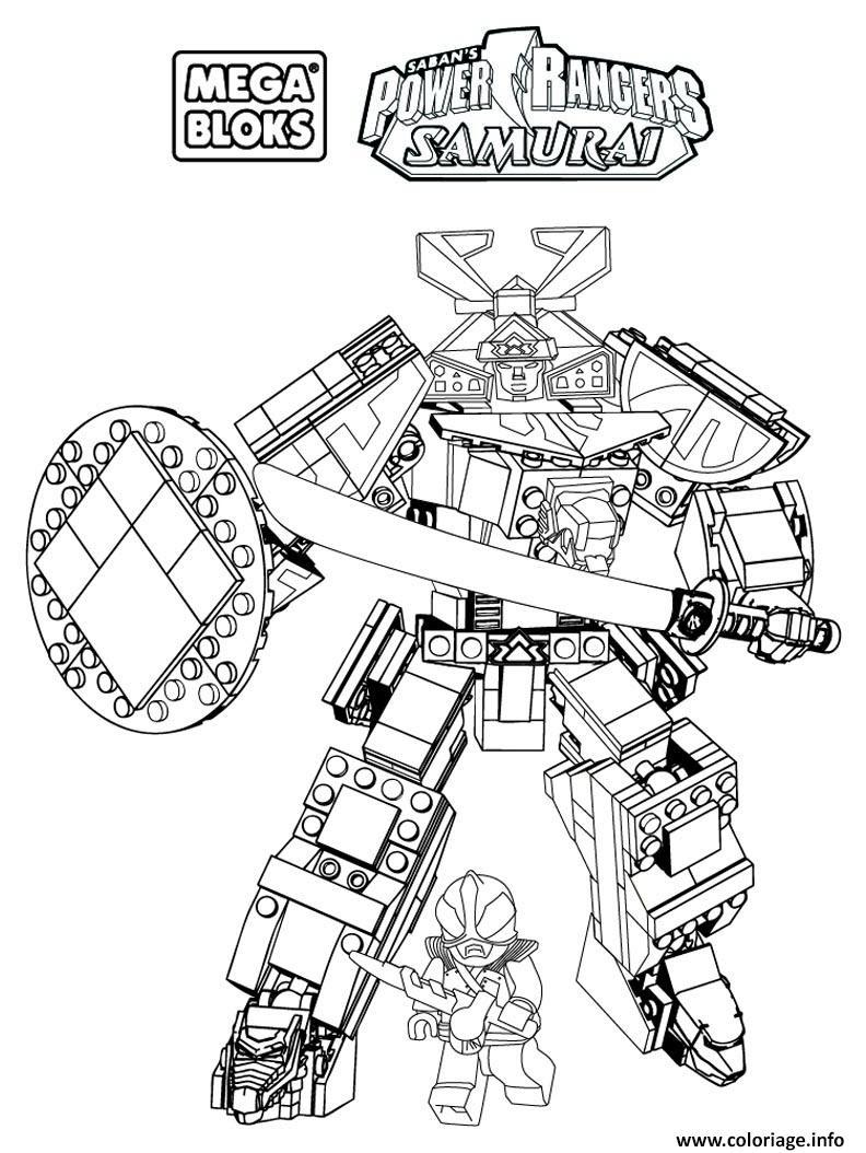 Coloriage Power Rangers Samurai Mega Bloks Dessin  Imprimer