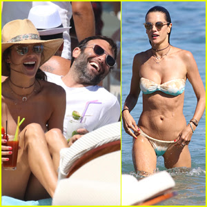 Alessandra Ambrosio Vacations with Fiance Jamie Mazur in Mykonos
