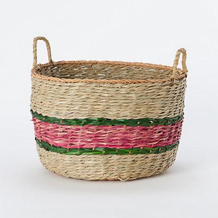Vine Striped Basket