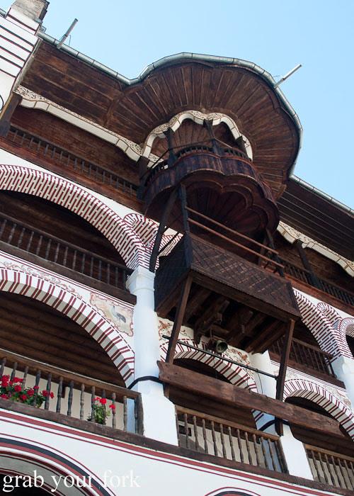 wooden balconies monastery bulgaria