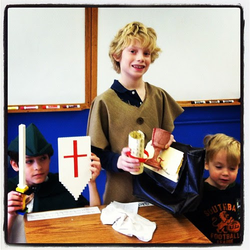 """""""The Youngest Templar"""" and his helpers..."""