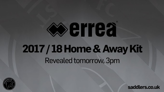 New Walsall Kits to be Unveiled on Wednesday Afternoon