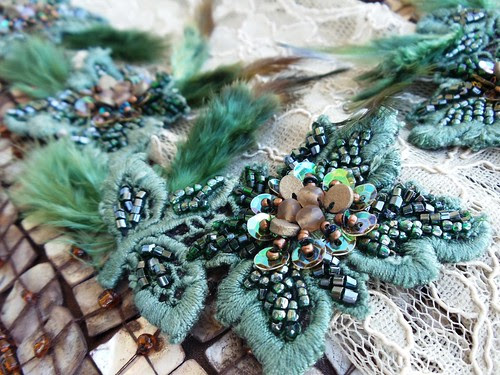 Green vintage lace