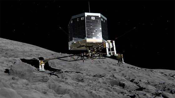Nave Philae na superficie do cometa 67/P - 2