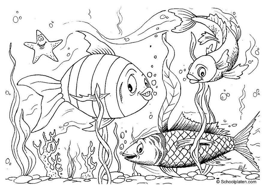 Printable Coloring Pages Fish In Lake Coloring Pages
