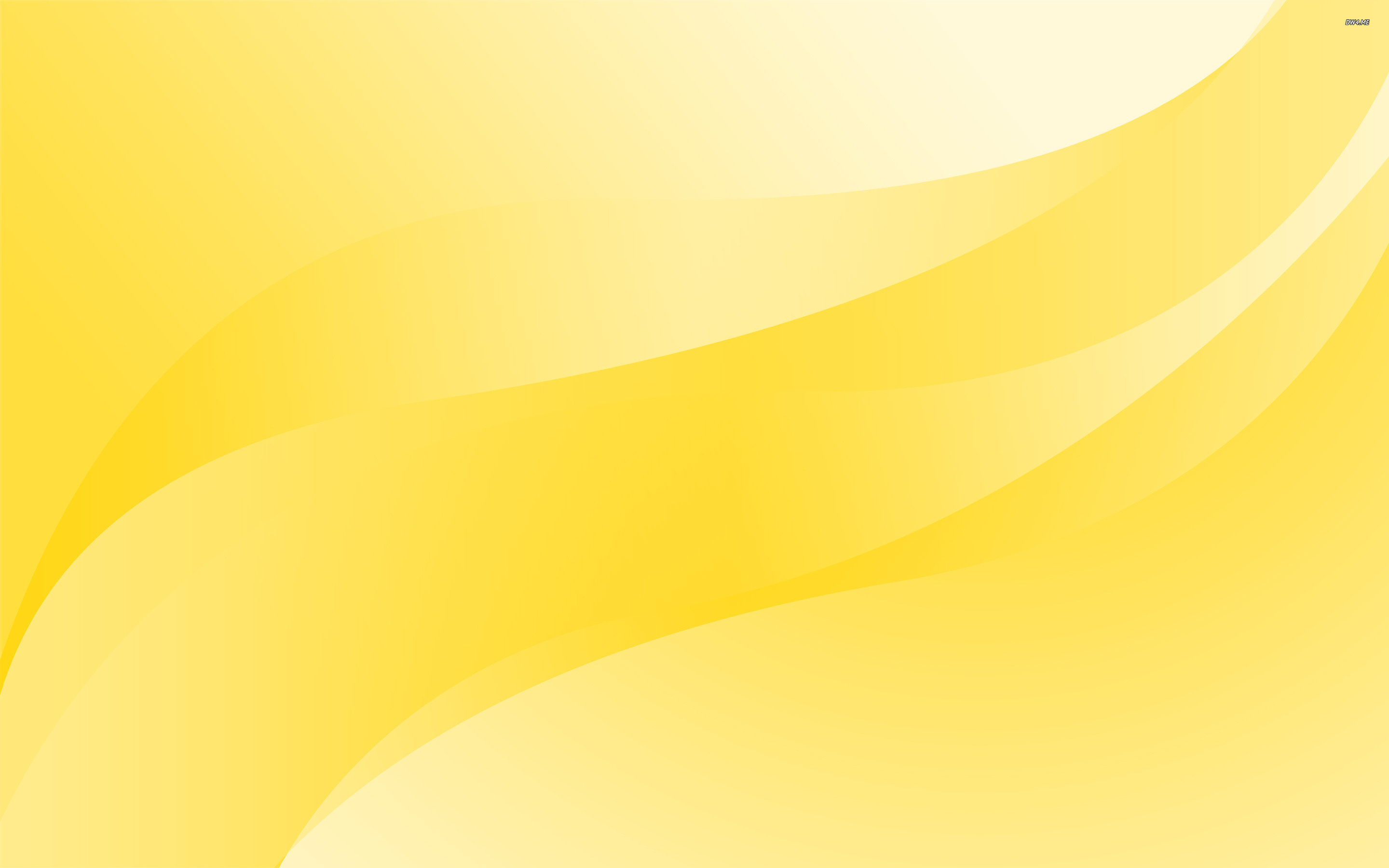 Yellow Abstract Wave Wallpaper 28585