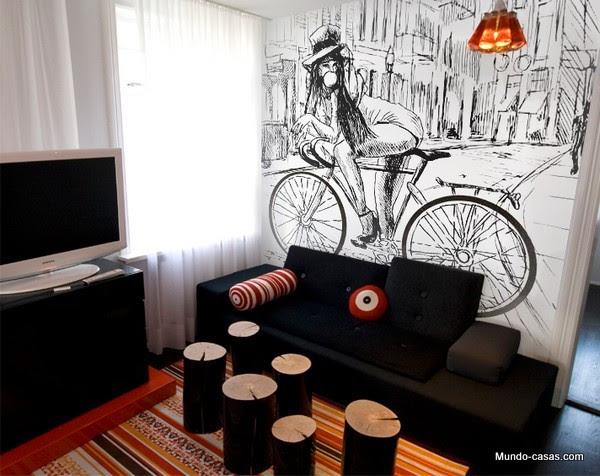 El Efecto Espacio En Murales Adhesivos Para Paredes Mundo Casas Com