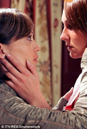 Effie Harrison, played by Phillipa Peak, reveals her feelings for Zoe Tate (Leah Bracknell) in this Emmerdale scene