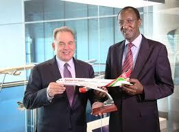 Etihad and Kenya Airways' CEO