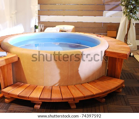 Bathroom With Jacuzzi Stock Photo 74397592 : Shutterstock