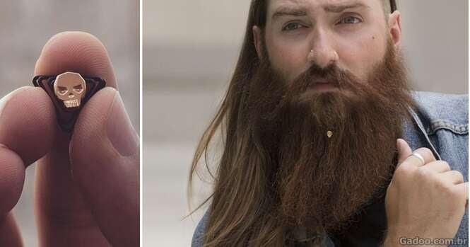 Esta é a primeira coleção de joias para barba