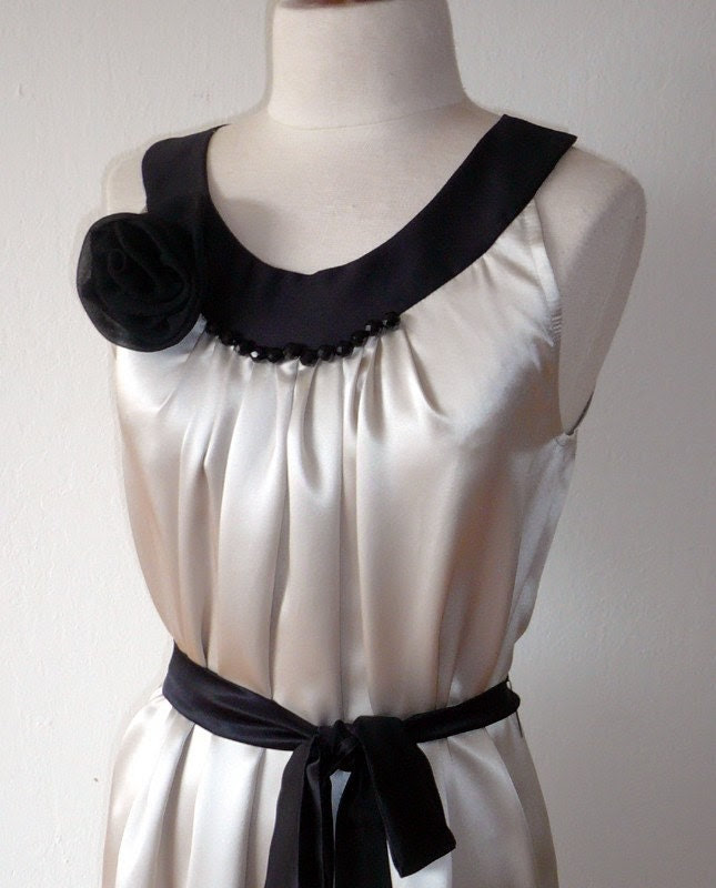 Dove silk dress