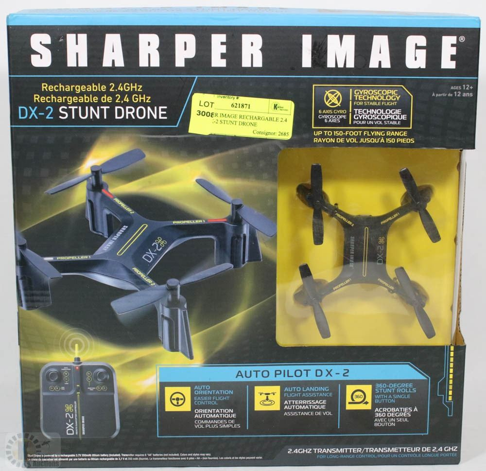 Sharper Image Rechargeable 24 Ghz Dx 2 Stunt Drone