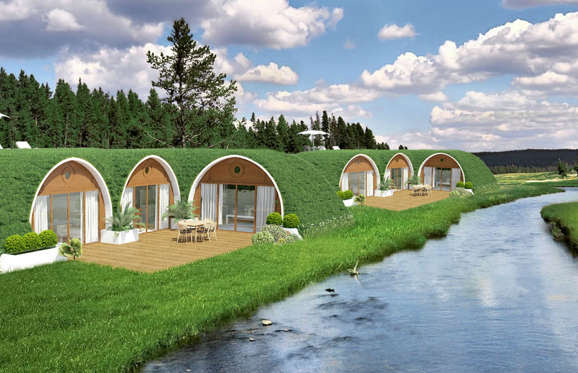 And if you really do love the hobbit lifestyle, you can also purchase one of these prefab micro-houses. Green Magic Homes build houses under the soil and turf, so you can't really get any more hidden than this.