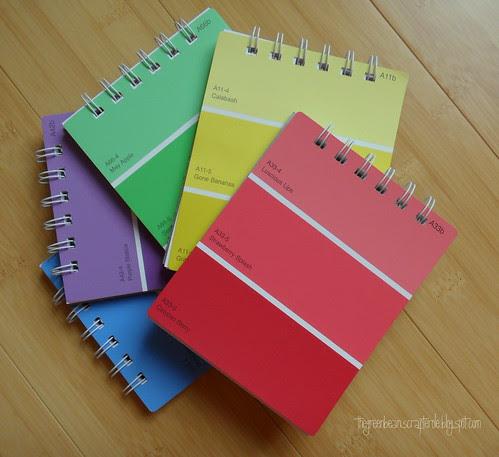 paintchip notebooks