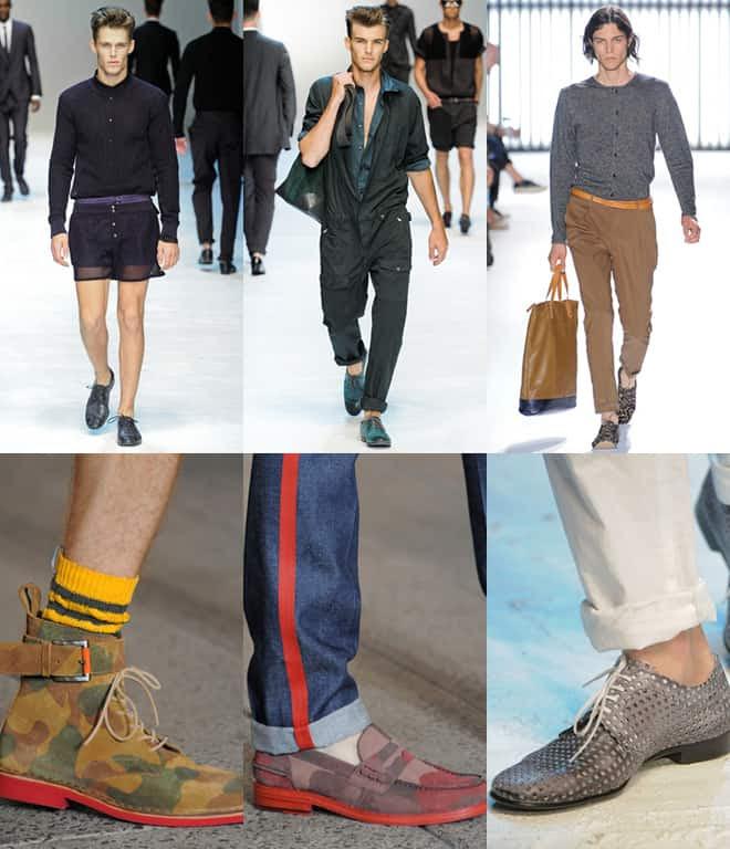 Men's Patterned Footwear on SS12 catwalks