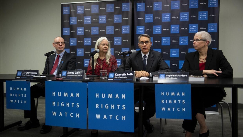 Giám đốc điều hành Human Rights Watch Kenneth Roth trong cuộc họp báo tại trụ sở Liên Hiệp Quốc ở New York, Hoa Kỳ, ngày 14/01/2020