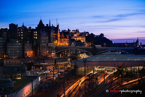 Me ... Edinburgh ... And Sunset .... by |MBS-..|