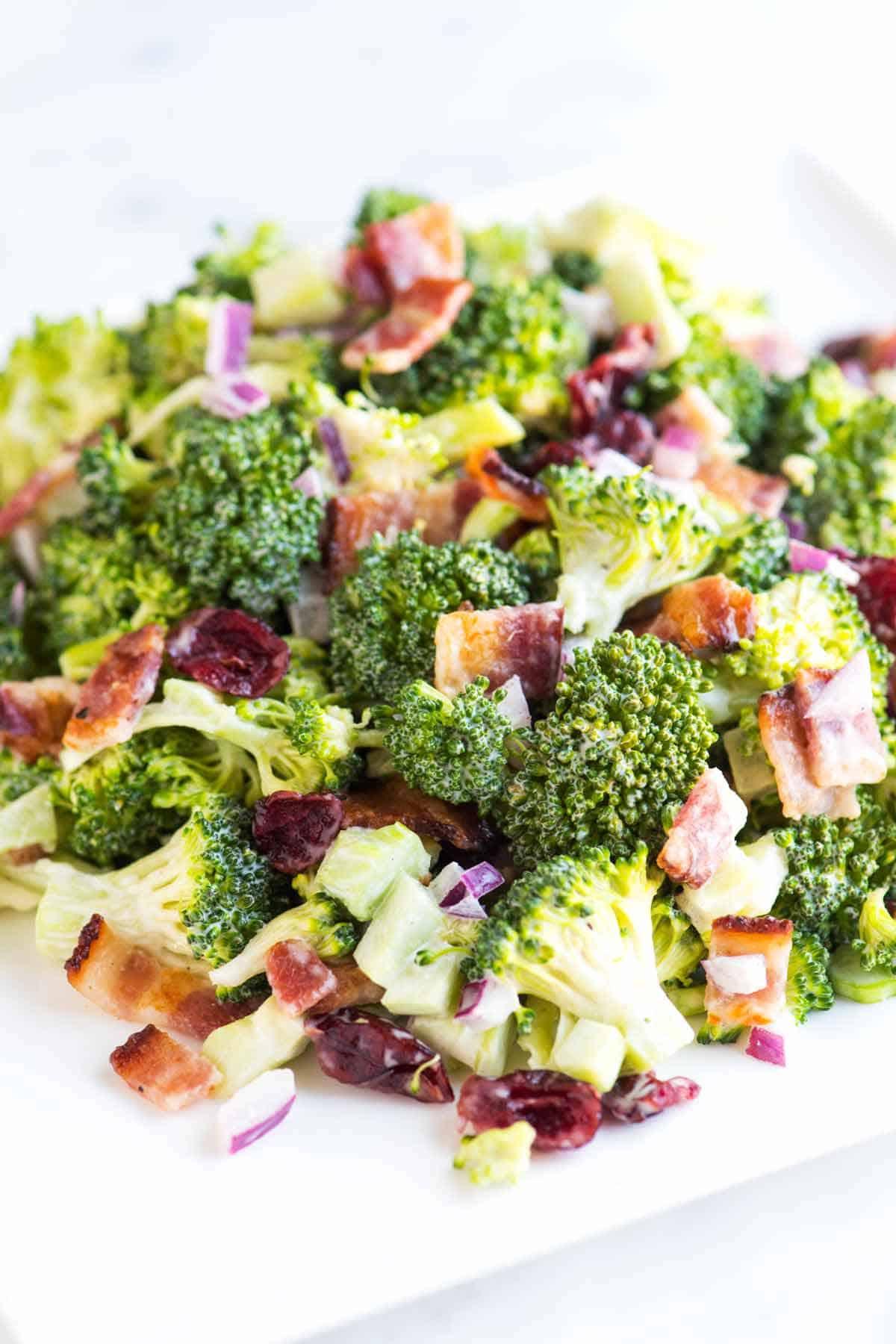 Easy Broccoli Salad Recipe with Bacon