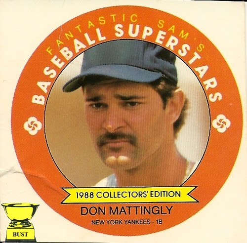 Baseball Card Bust Don Mattingly 1988 Fantastic Sam S
