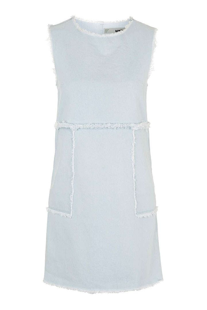MOTO Bleach Denim Dress