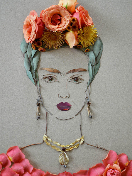 """Frida III"" Flower Face Print"