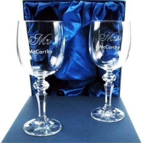50th Anniversary Wine Glasses   The Personalised Gift Shop