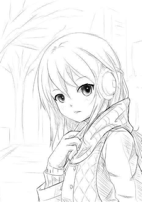 Gambar Sketsa Anime Arsiptembinet