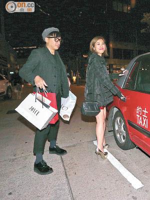 壽星女黃智雯收到不少生日禮物,更獲單立文護送搭的士離開。