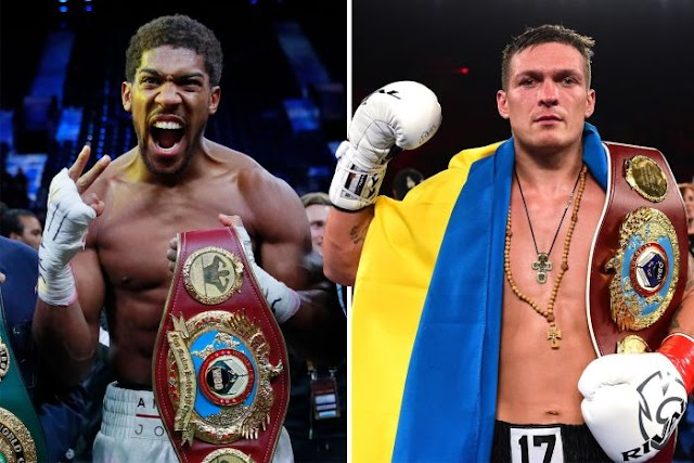 TAKE YOUR BELT! Usyk Returns Heavyweight Title Belts To Anthony Joshua After Victory
