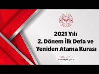 2021 Yılı 2. Dönem İlk Defa ve Yeniden Atama Kurası - T.C. Sağlık Bakanlığı