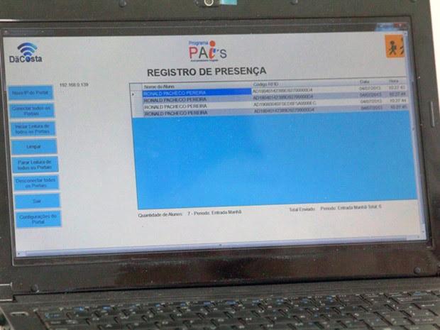Sistema registra frequência dos alunos e também controla a oferta de merenda nas escolas (Foto: Divulgação / Ascom)