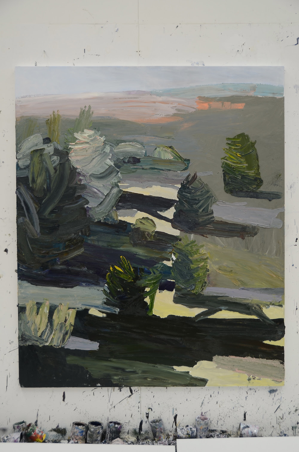 Burrawong revisited 2013 oil on linen 183 x 152cm