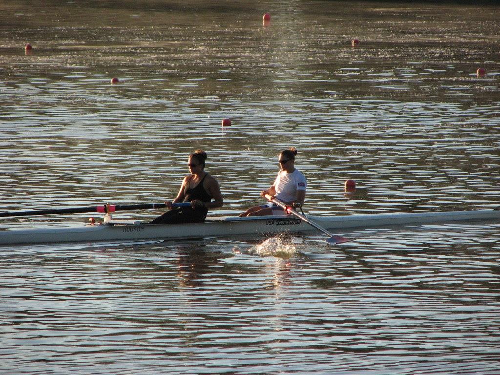 Rowing on Lake Carnegie
