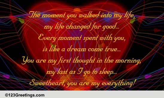 You Are My Everything Poem For Him Llll