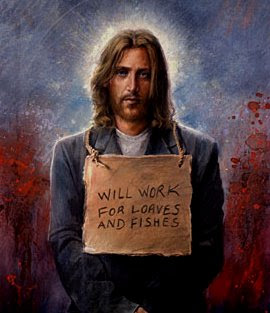 A voiceless. homeless, poor Jesus
