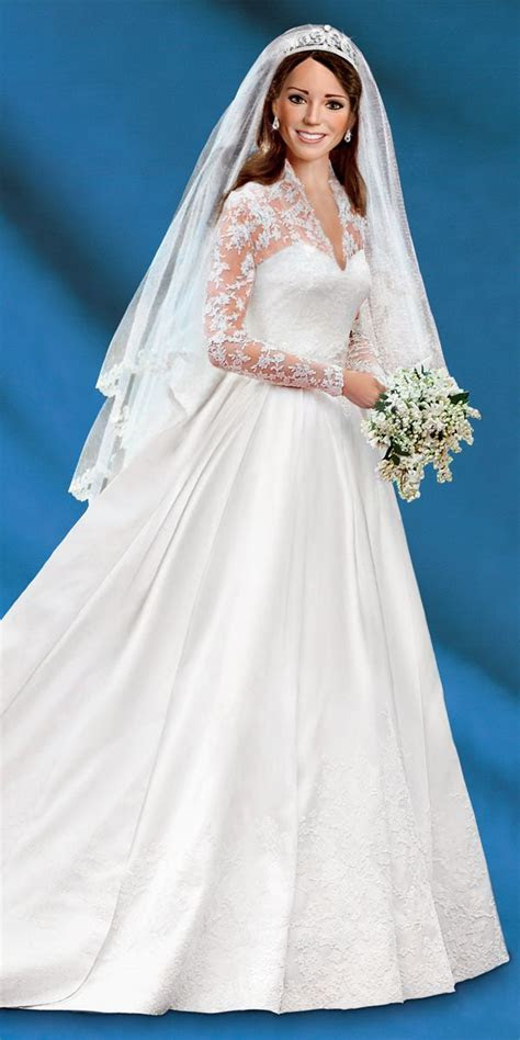 Kate Middleton Commemorative Porcelain Bride Doll from