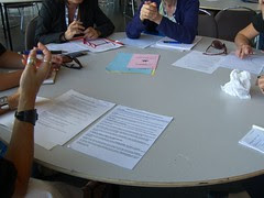 Our small working group hard at work