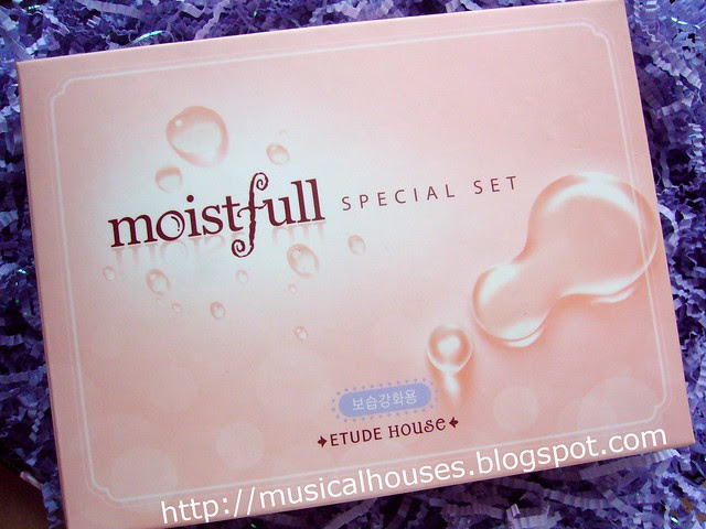 etude house moistfull face mask and face cream set