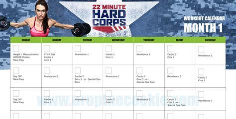 minute hard corps workout calendar elizabeth hartke
