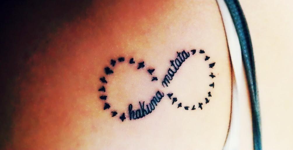 Hakuma Matata Infinity Symbol Tattoo Design