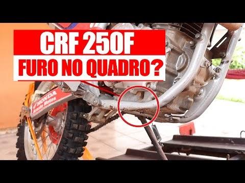 CRF 250F - Furos no quadro