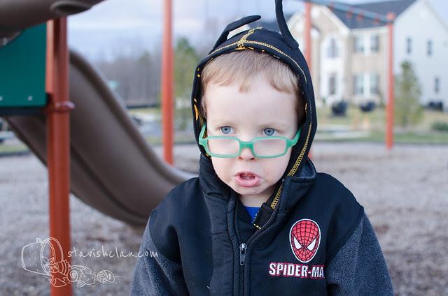 Xander as batman playground