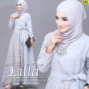 Model Baju Gamis Renda Pesta Hijabfest
